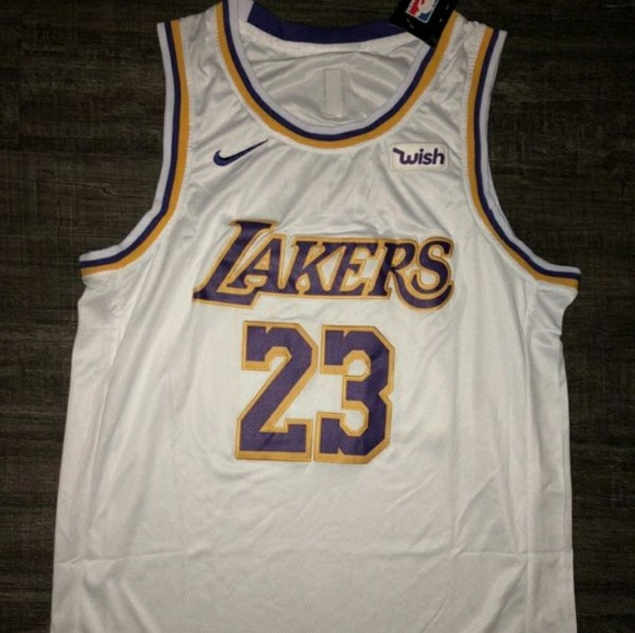 meet 21dbf 46d9a LOS ANGELES LAKERS LEBRON #23 WHITE JERSEY NWT
